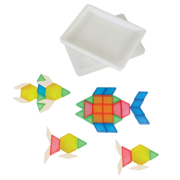 See Thru Pattern Blocks -Set of 49