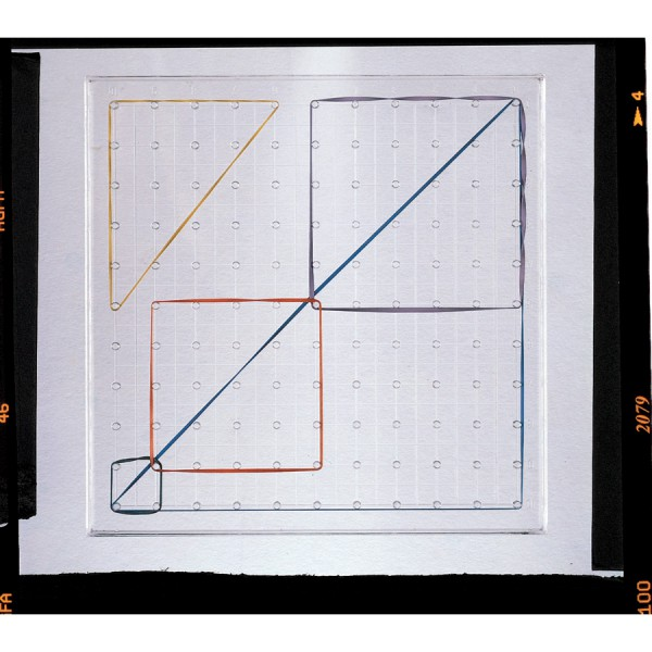 """Clearview™ Geoboard 5"""" -5x5 pin array"""