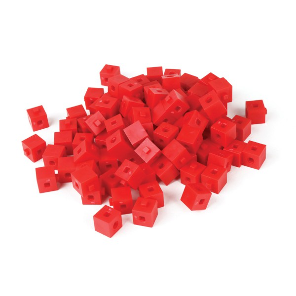 Base Ten Interlocking Unit Cubes -Red Set of 1000