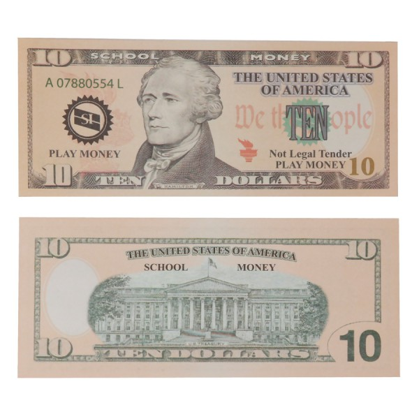 U.S. School Money $10 Bills -Set of 100