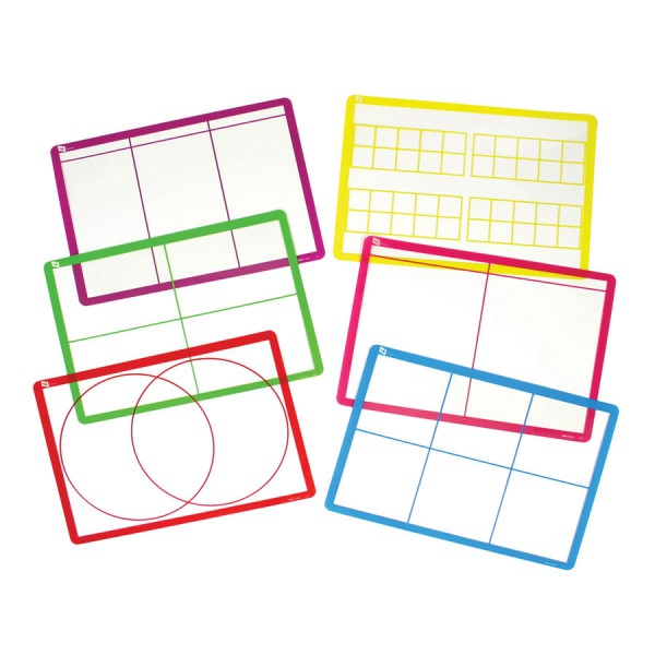 Transparent Sorting Mats -Set of 6