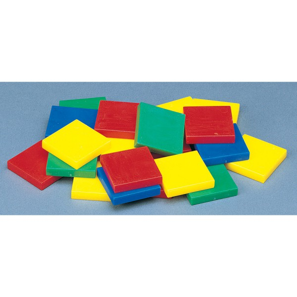 "1"" Color Tiles -Set of 2000 in Container"