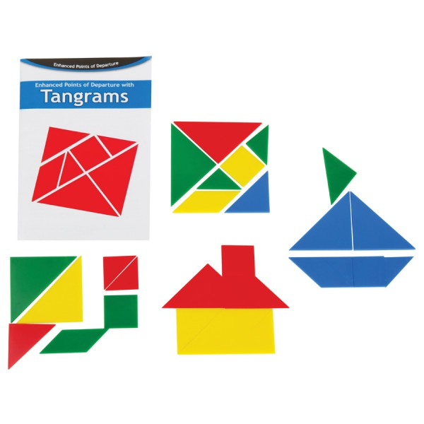 Opaque Tangrams -12 Sets with Guide in Container