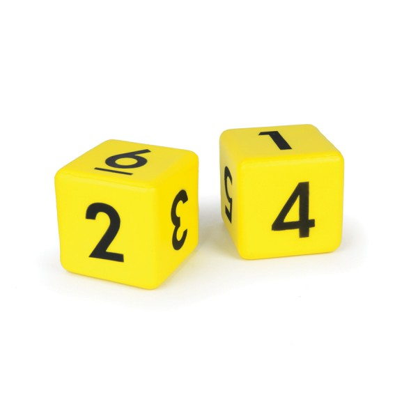 "3"" Molded Foam Dice - Numbers Set of 2"