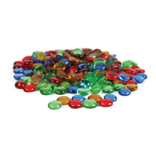 Transparent Rounded Counting Gems, 4 colors ,Set of 200