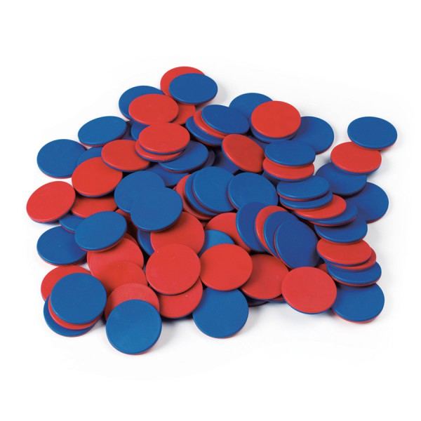 Two-Color Counters -Blue/Red Set of 200
