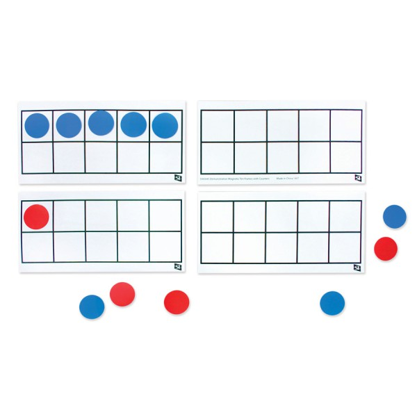 Demo Magnetic Ten Frame with Counters