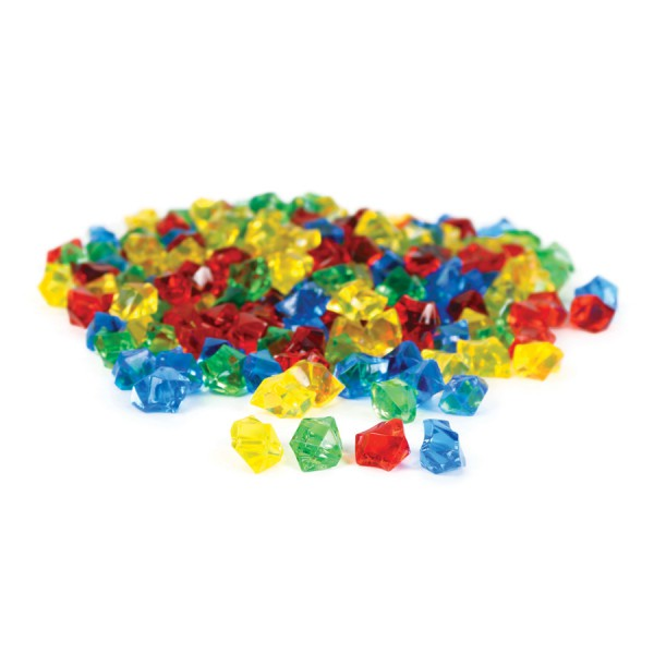 Transparent Counting Jewels, 4 colors, Set of 200