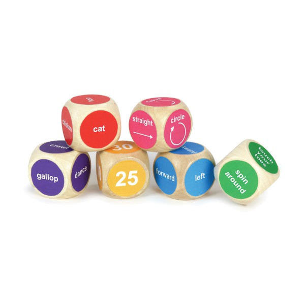 Movement Wooden Dice