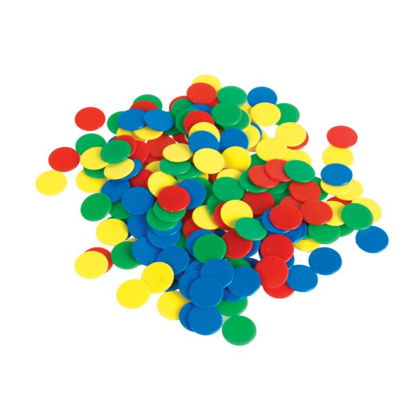Color Counting Chips, Set of 200