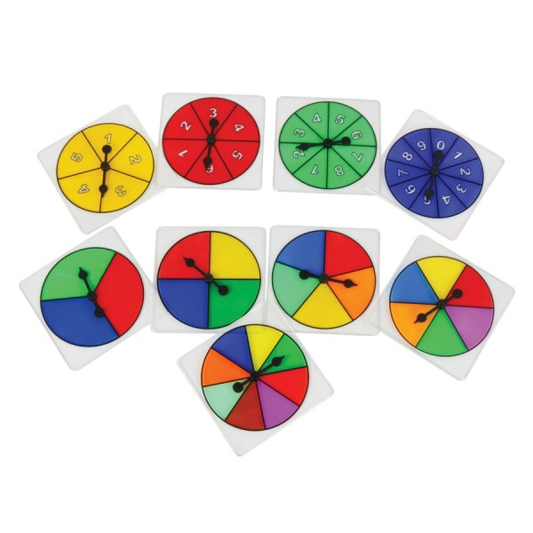 Transparent 3 Color Spinner
