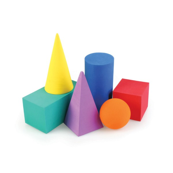 Foam Geometric Solids -Set of 6
