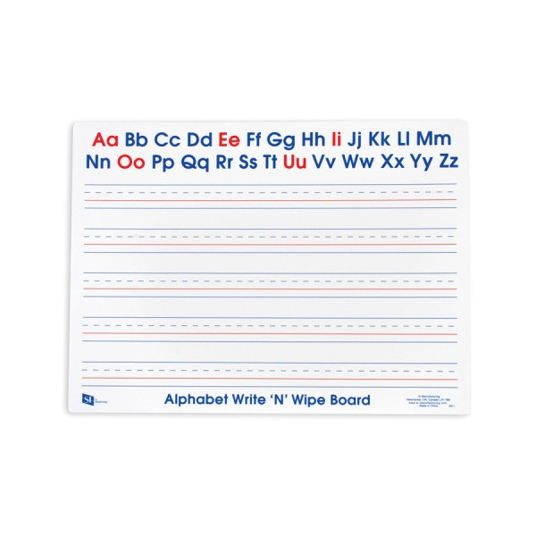 Write N Wipe Boards Alphabet -Set of 10