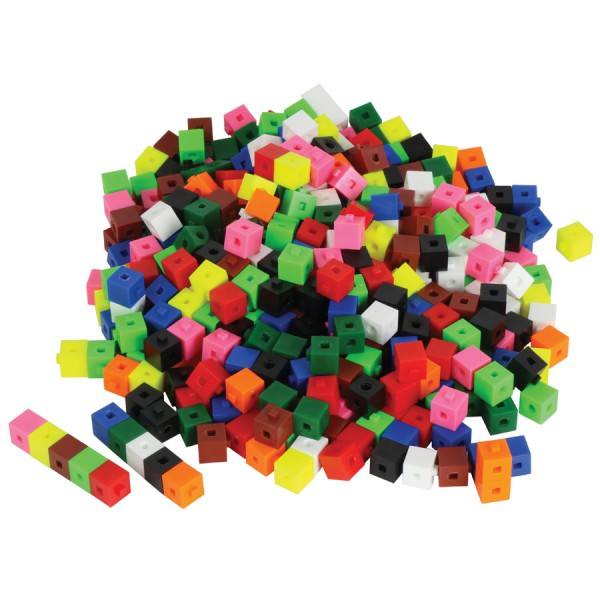 Interlocking Centimeter Cubes -Set of 500 in Container