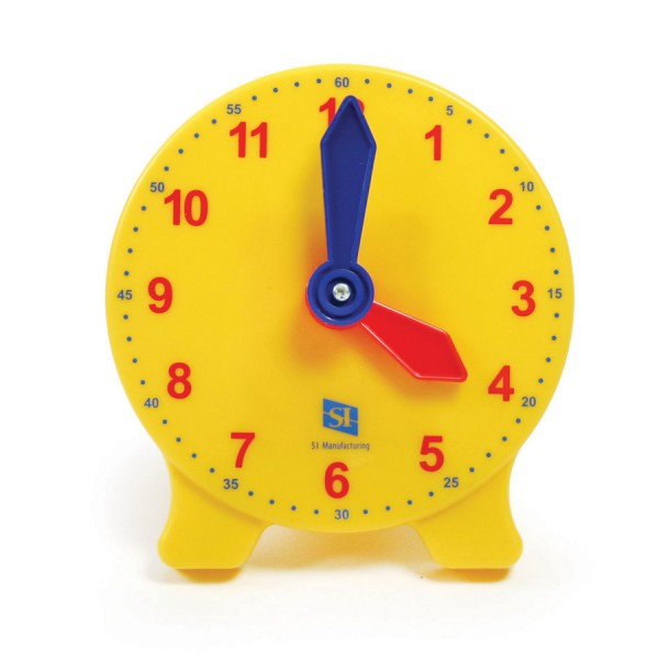 Classic Geared Yellow Student Clock -Set of 6
