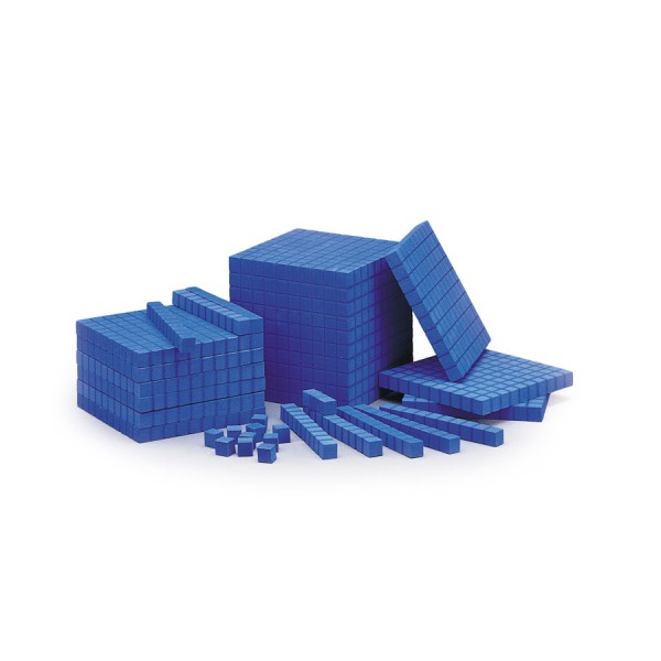 Foam Base Ten Blocks -Unit Cubes Set of 100