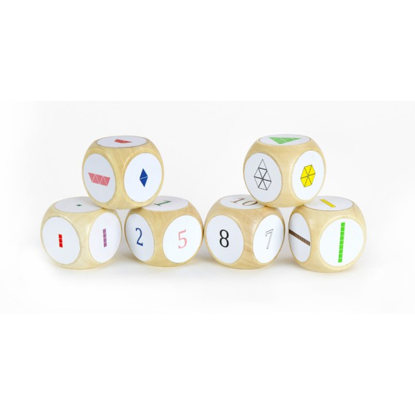 Deci Rods Dice Stickers