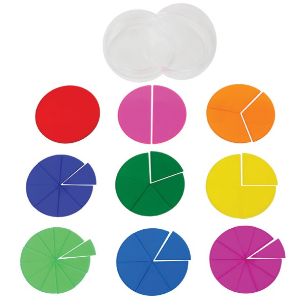 Opaque Fraction Circles -Set of 51