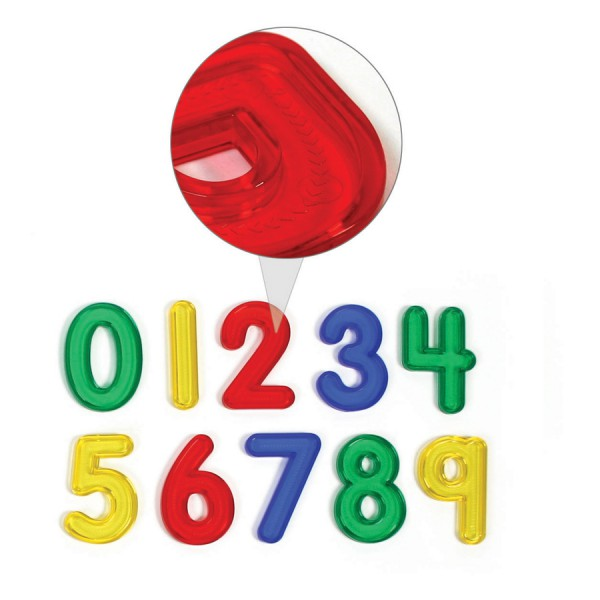 Jumbo see-Thru Numbers -Set of 10