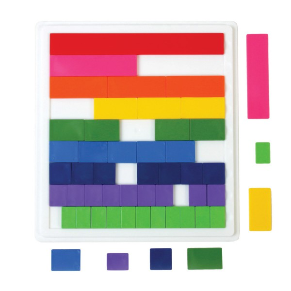 Blank Fraction Tiles -Set of 51 with Tray