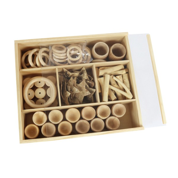 Deep Wooden Box with Transparent Lid