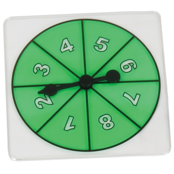 Transparent Number Spinner 1-8