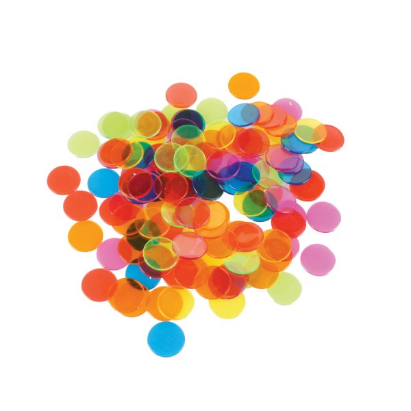 Transparent Circle Counting Chips -Set of 1000
