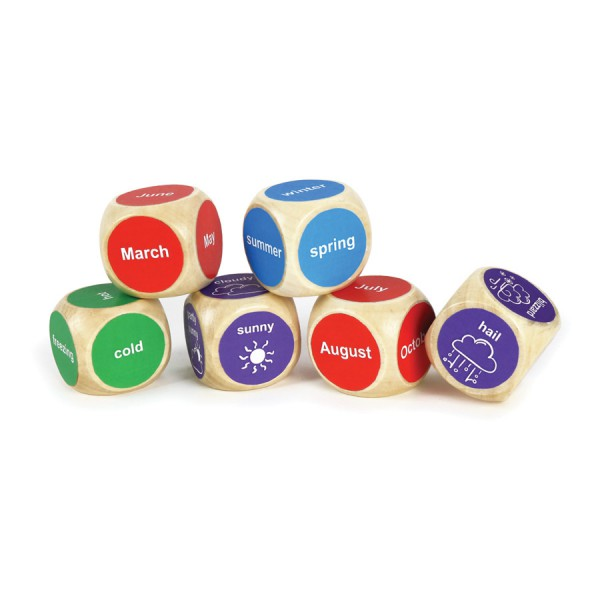 Weather Wooden Dice