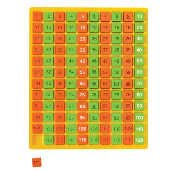 Counting Tray with Tiles