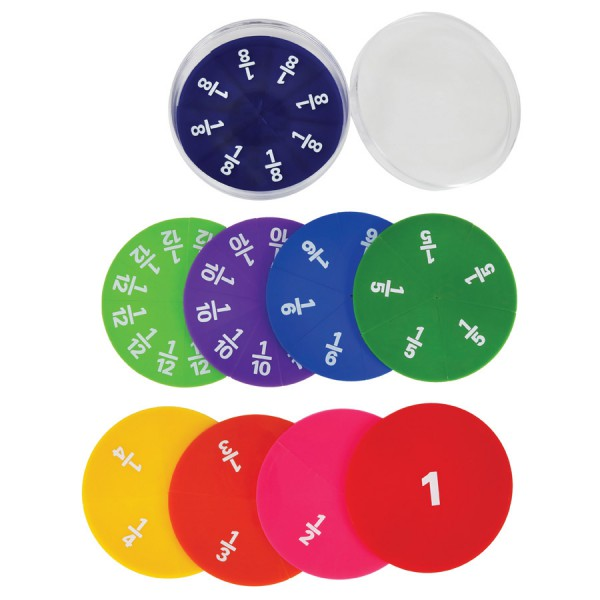 Opaque Printed Circles Fraction -Set of 51