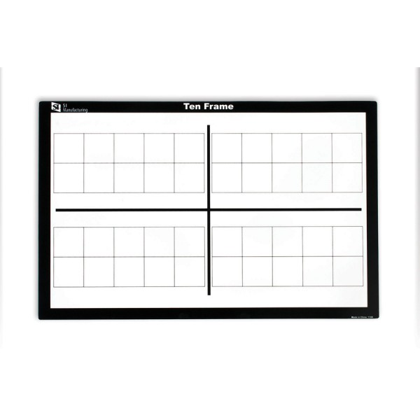 Write n Wipe Ten Frame Boards -Set of 10