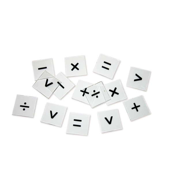 Overhead Number Tiles Operations, Set of 25