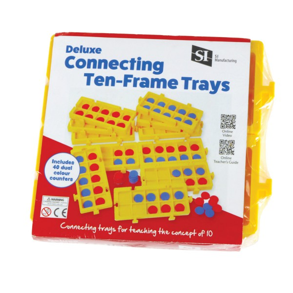 Deluxe Connecting Ten Frame Trays -Set of 4