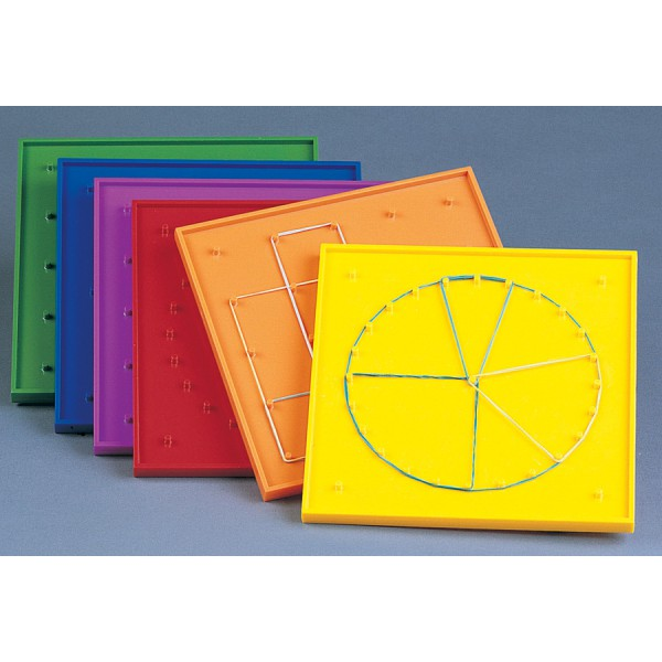 "7"" Rainbow Geoboards Double-Sided -Set of 6"
