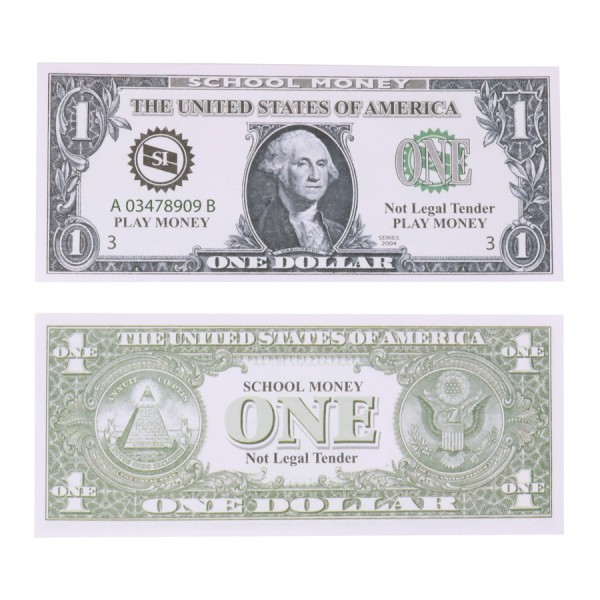 U.S. School Money $1 Bills -Set of 100