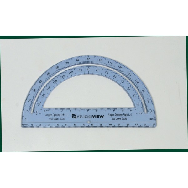 "6"" Clearview Protractor"