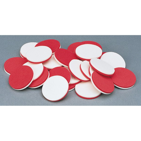 Foam Two Color Counters, Red/White, Set of 200