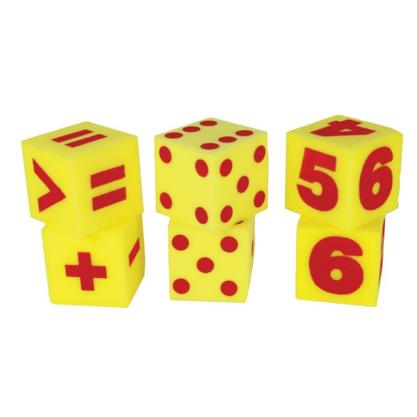 "5"" Giant Soft Foam Dice - Number Set of 2"