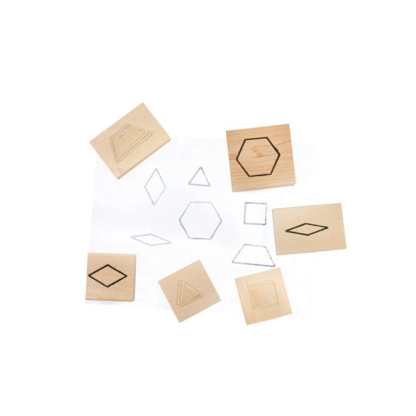 Pattern Blocks Stamps -Set of 6