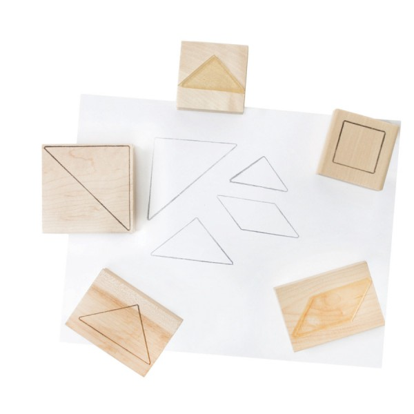 Tangrams Stamps, Set of 5