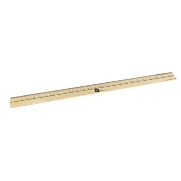 "18"" School Ruler -Wooden with Metal Edge"