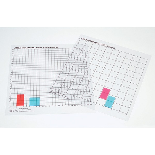 Transparent Graph Grids Inches -Set of 10