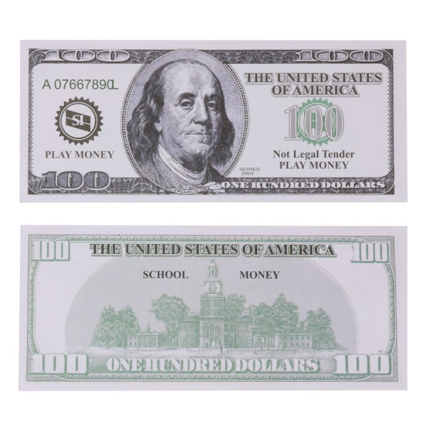 U.S. School Money $100 Bills -Set of 50