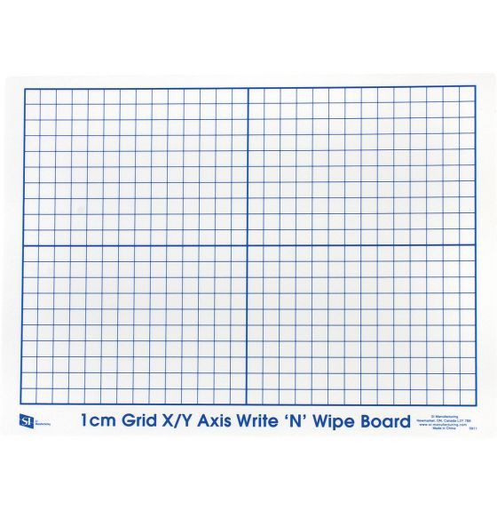 Write N Wipe Boards X-Y Axis -Set of 30