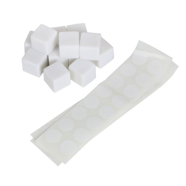 White blank cubes with stickers, Set of 12