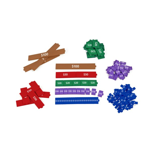 Canadian Connecting Proportional Money Tiles - 152 Pieces