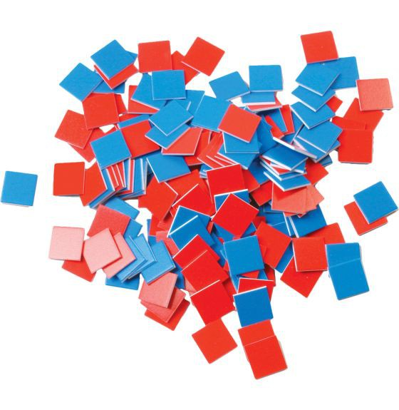 Red and Blue Tiles -Set of 100
